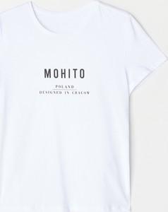 T-shirt Mohito z bawełny z krótkim rękawem