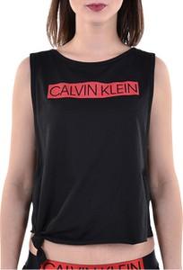 Bluzka Calvin Klein w młodzieżowym stylu z okrągłym dekoltem