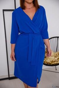 Sukienka tono.sklep.pl z dekoltem w kształcie litery v midi w stylu casual