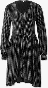 Czarna sukienka CLOCKHOUSE z długim rękawem midi w stylu casual