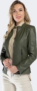 Zielona kurtka Wittchen z satyny krótka