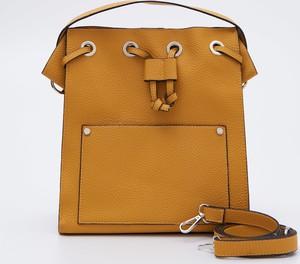 Żółta torebka Sinsay średnia matowa