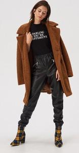 Bluzka Sinsay z okrągłym dekoltem w stylu casual z krótkim rękawem