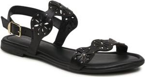 Czarne sandały S.Oliver Red Label z klamrami w stylu casual