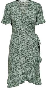 Zielona sukienka Only z krótkim rękawem w stylu casual mini