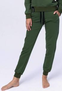Zielone spodnie sportowe Reezy z dresówki