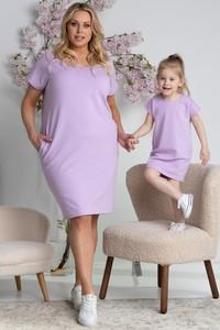 Sukienka KARKO z krótkim rękawem z bawełny mini