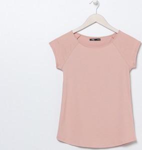 Różowy t-shirt Sinsay z krótkim rękawem