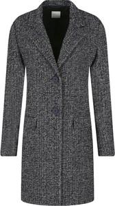 Czarny płaszcz BOSS Casual