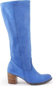 Zapato kozaki - skóra naturalna - model 155 - kolor szafir