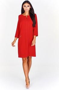 Czerwona sukienka Fokus z bawełny midi