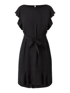 Czarna sukienka Guess z okrągłym dekoltem z krótkim rękawem mini