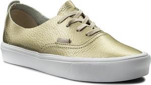 Tenisówki vans - authentic decon vn0a38erjyq (leather) gold