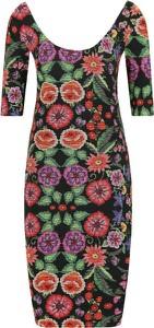 Sukienka Desigual midi w stylu casual z długim rękawem