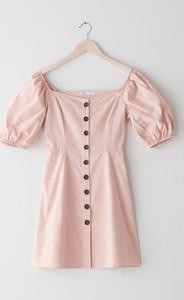 Różowa sukienka Sinsay z krótkim rękawem