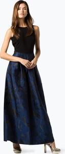 Granatowa sukienka Lauren Ralph Lauren z dżerseju maxi z okrągłym dekoltem