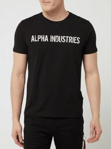T-shirt Alpha Industries z nadrukiem z bawełny