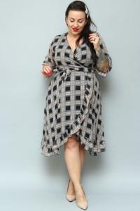 Sukienka KARKO z szyfonu midi