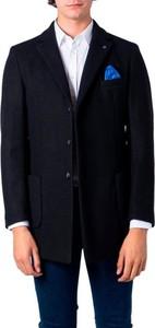 Czarny płaszcz męski Over-d
