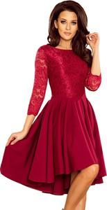 Sukienka NUMOCO z długim rękawem z okrągłym dekoltem