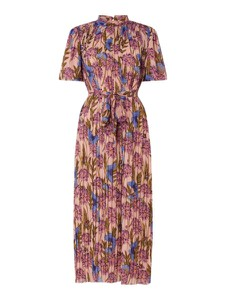 Różowa sukienka Forever Unique maxi z krótkim rękawem w stylu casual