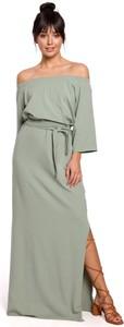 Sukienka Be maxi z długim rękawem z dzianiny