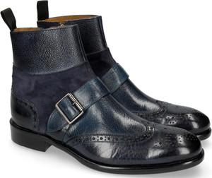 Granatowe buty zimowe Melvin & Hamilton z klamrami ze skóry
