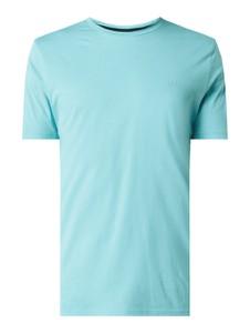 Turkusowy t-shirt Hugo Boss z bawełny