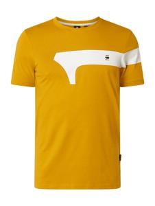 Żółty t-shirt G-Star Raw z krótkim rękawem
