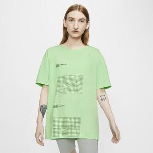 Zielony t-shirt Nike z krótkim rękawem w sportowym stylu