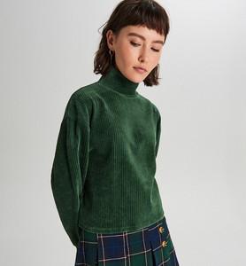 Zielony sweter Cropp w młodzieżowym stylu