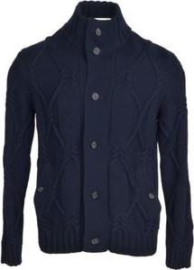 Niebieski sweter Paolo Pecora Milano z wełny