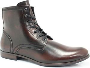 Brązowe buty zimowe Kent sznurowane