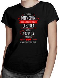 Czarny t-shirt Koszulkowy z krótkim rękawem