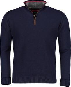 Granatowy sweter Lavard z wełny