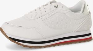 Buty sportowe Tommy Hilfiger na platformie sznurowane