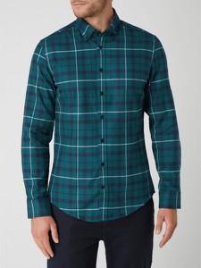 Zielona koszula Seidensticker z klasycznym kołnierzykiem w stylu casual