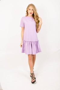 Fioletowa sukienka Olika mini z bawełny