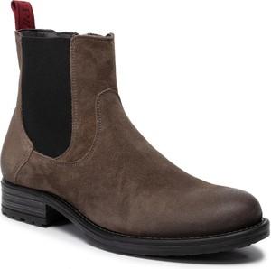 Brązowe buty zimowe Marc O'Polo
