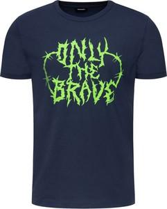 Granatowy t-shirt Diesel