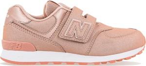 Różowe buty sportowe dziecięce New Balance
