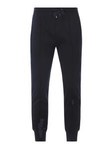 Granatowe spodnie Emporio Armani z bawełny