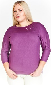 Fioletowa bluzka Fokus z długim rękawem