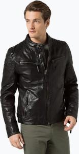 Gipsy - męska kurtka skórzana – chester, czarny