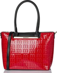 Czerwona torebka Monnari na ramię duża ze skóry