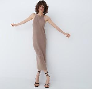 Sukienka Mohito bez rękawów maxi z okrągłym dekoltem
