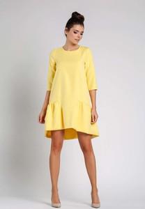 Żółta sukienka Nommo mini w stylu klasycznym