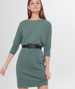 Turkusowa sukienka Mohito z długim rękawem