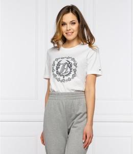T-shirt Tommy Hilfiger z bawełny z okrągłym dekoltem w młodzieżowym stylu