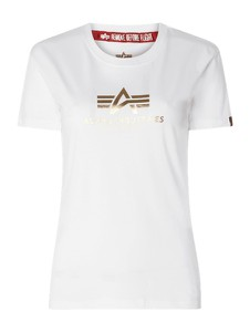 Bluzka Alpha Industries z okrągłym dekoltem w młodzieżowym stylu
